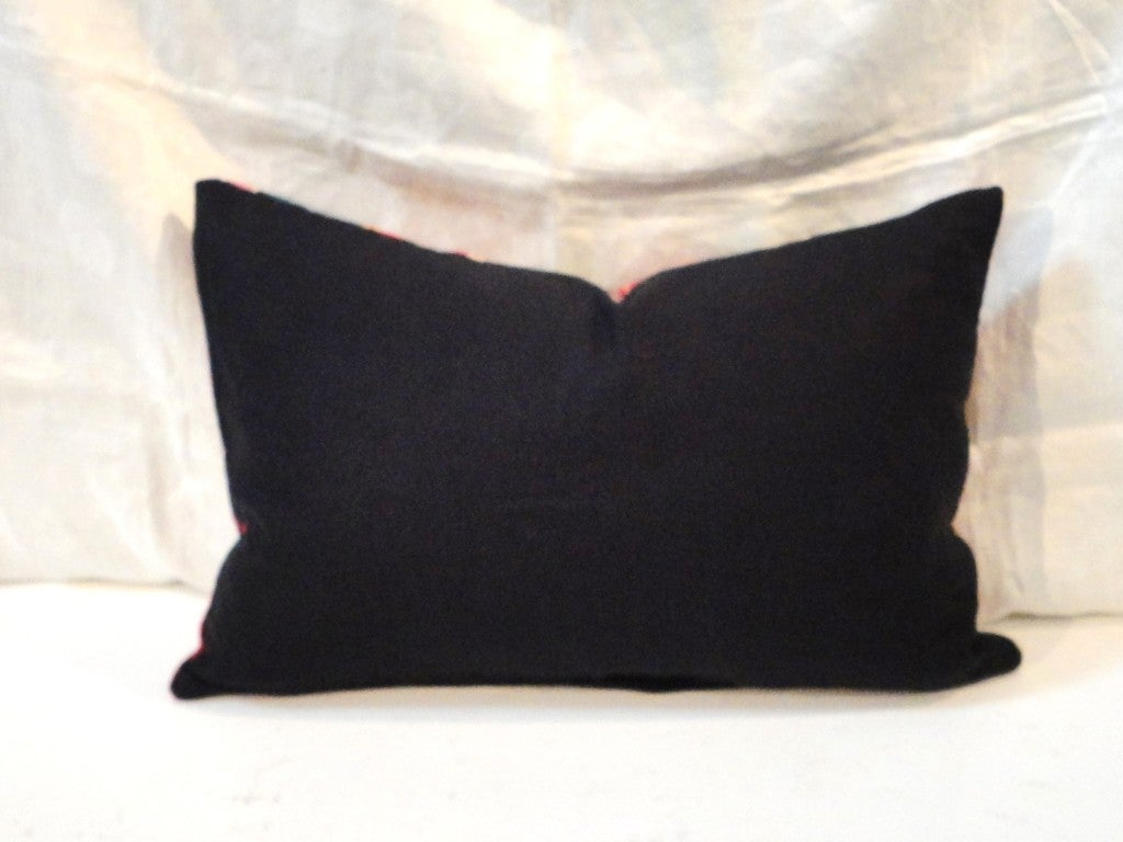 Fantastic Hand Woven Mexican Indian Sarape Pillows For Sale 4