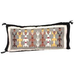 Navajo Yea Indian Weaving Rectangular Pillow
