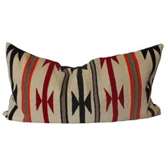 Geometric Navajo Indian Weaving Bolster Pillow