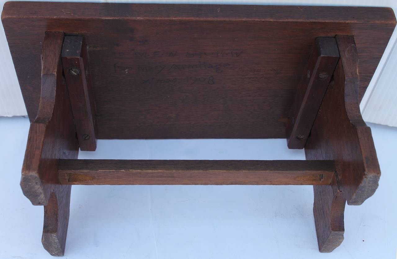 Late 19th Century 19th Century Hand-Carved Walnut Foot Stool For Sale