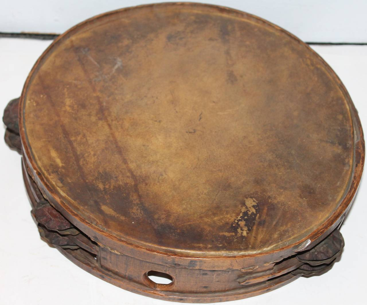 American Colonial Early 19th Century  American Tambourine from New England For Sale