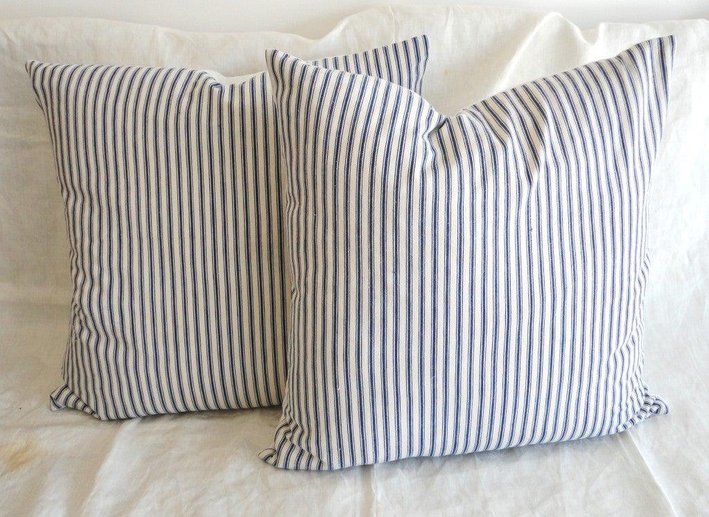 Blue Striped Decorative Pillows : blue striped pillows - 28 images - blue white stripe pillow navy stripe pillow decorative accent ...