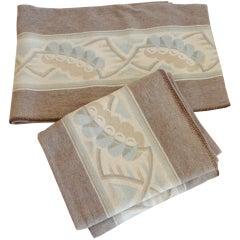 Wonderful Pair of Twin Camp Blankets W/Hand Sewn Edge