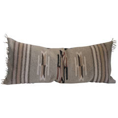 Mexican or American Serape Indian Weaving Bolster Pillow