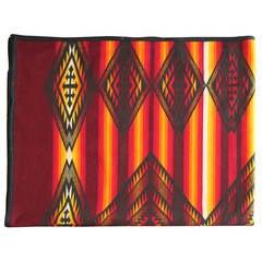 Fantastic Early Pendleton Indian Design Camp Blanket