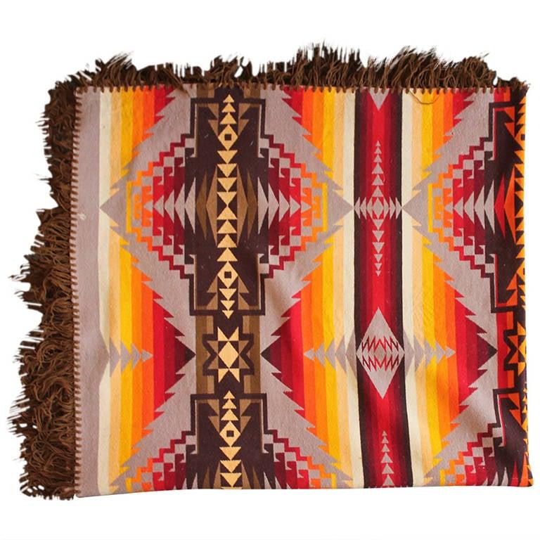 Early 1909 Cayuse Pendleton Indian Design Blanket At 1stdibs