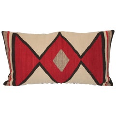Early Geometric Navajo Weaving Bolster Pillow