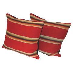 Amazing Colorful Striped Mexican / American Serape Pillows