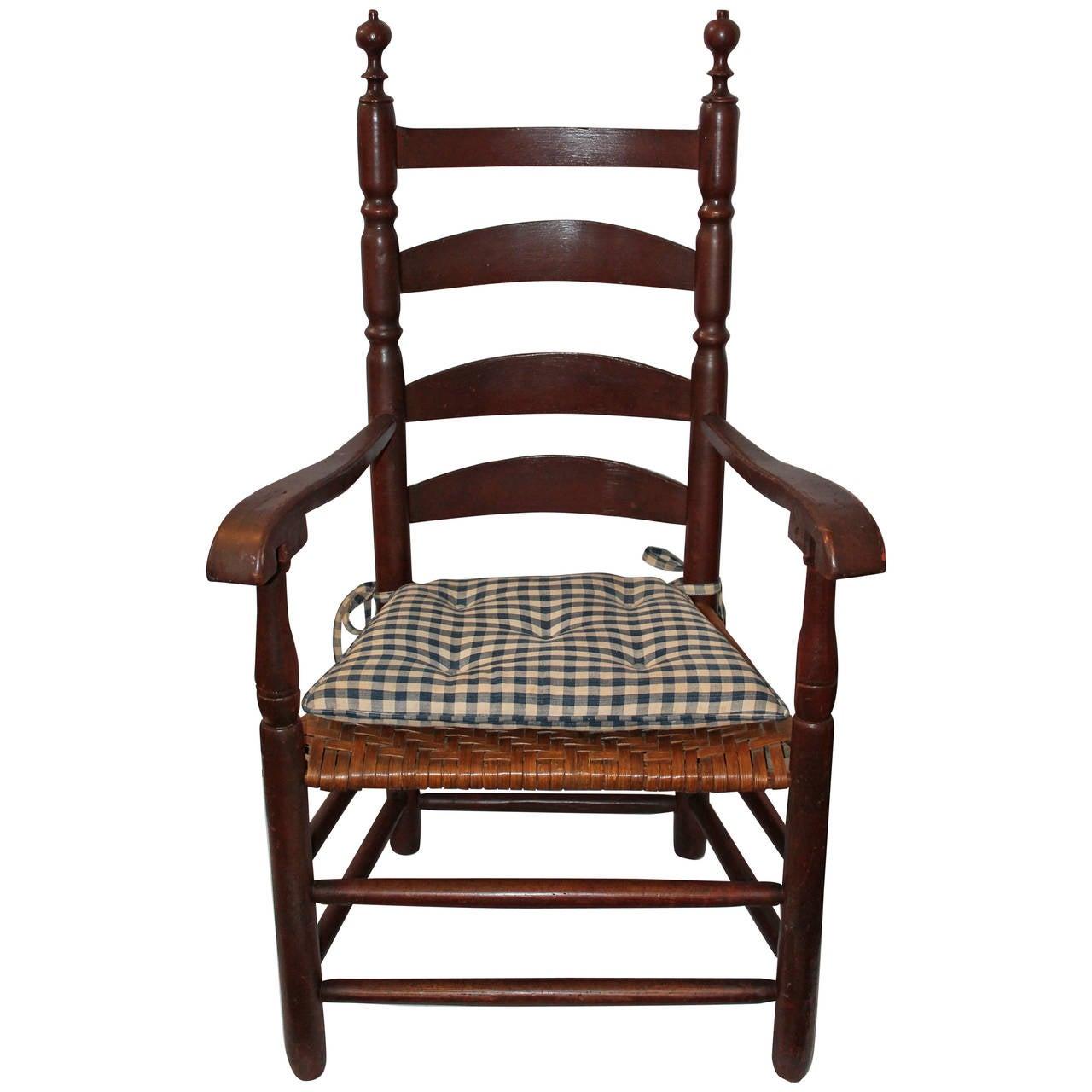 Ladder-back armchair,1780s