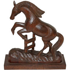 Amazing Hand-Carved Wood Horse