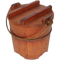 19th Century New England Pine Sugar Bucket