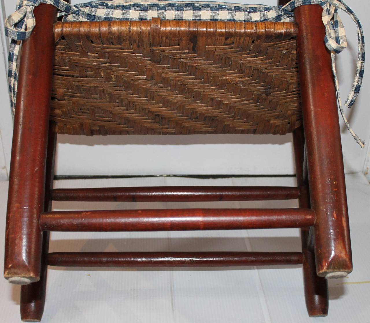 18th Century Original Painted Ladder Back Armchair For Sale 1