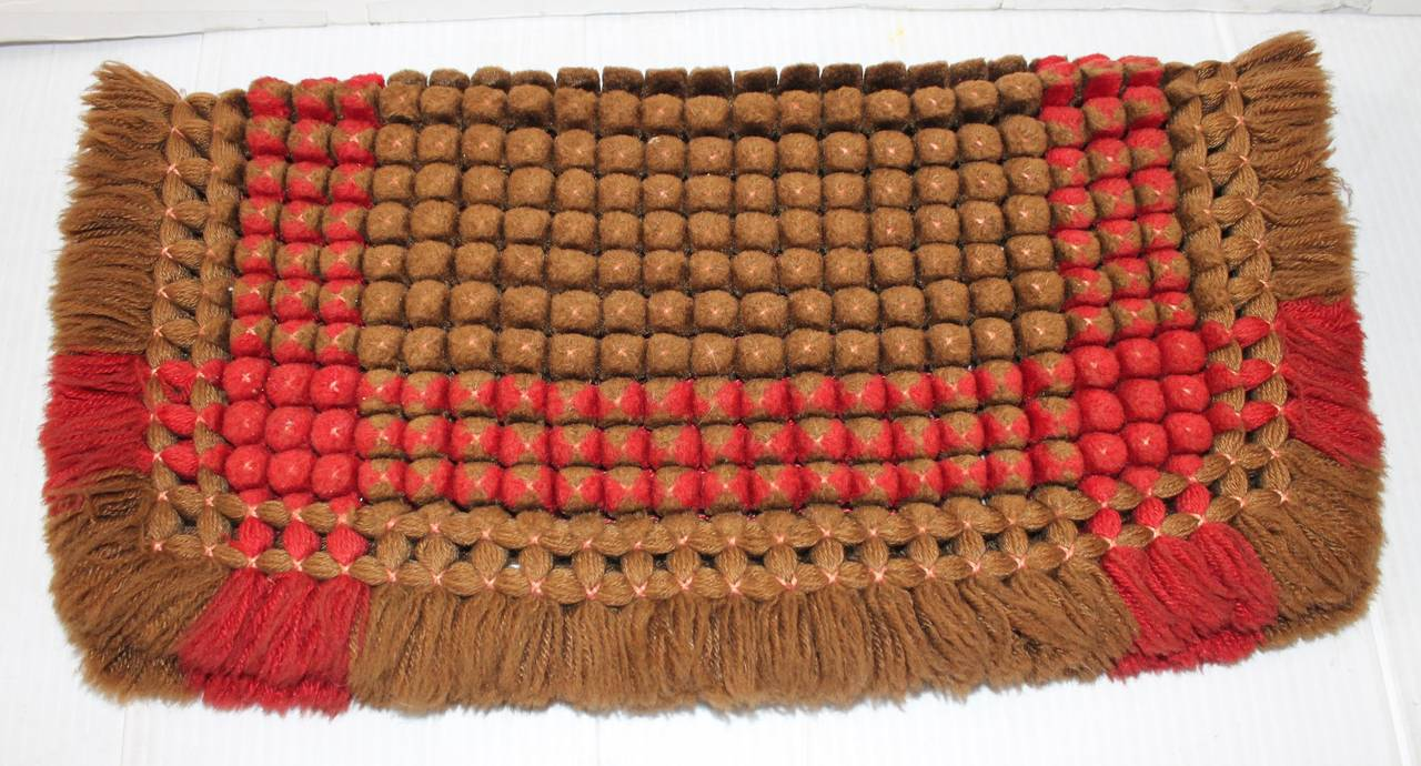 19th Century Handwoven Table Mat from Pennsylvania 2