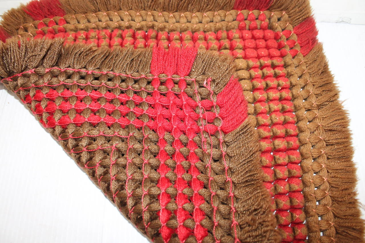 19th Century Handwoven Table Mat from Pennsylvania 4