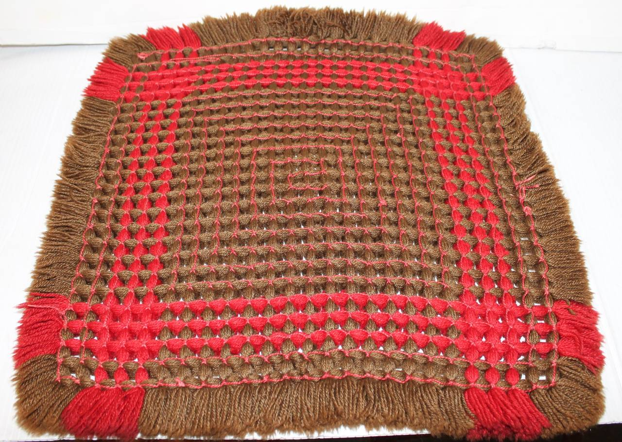 19th Century Handwoven Table Mat from Pennsylvania 5