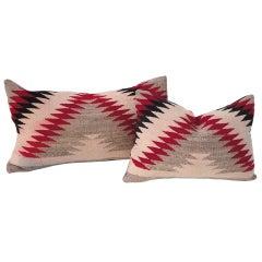 Pair of Navajo Indian Weaving Eye Dazzler Pillows
