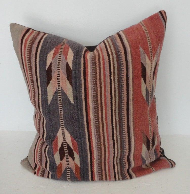 Zapotec Throw Pillows : Mexican Zapotec Indian Weaving Pastel Pillows at 1stdibs