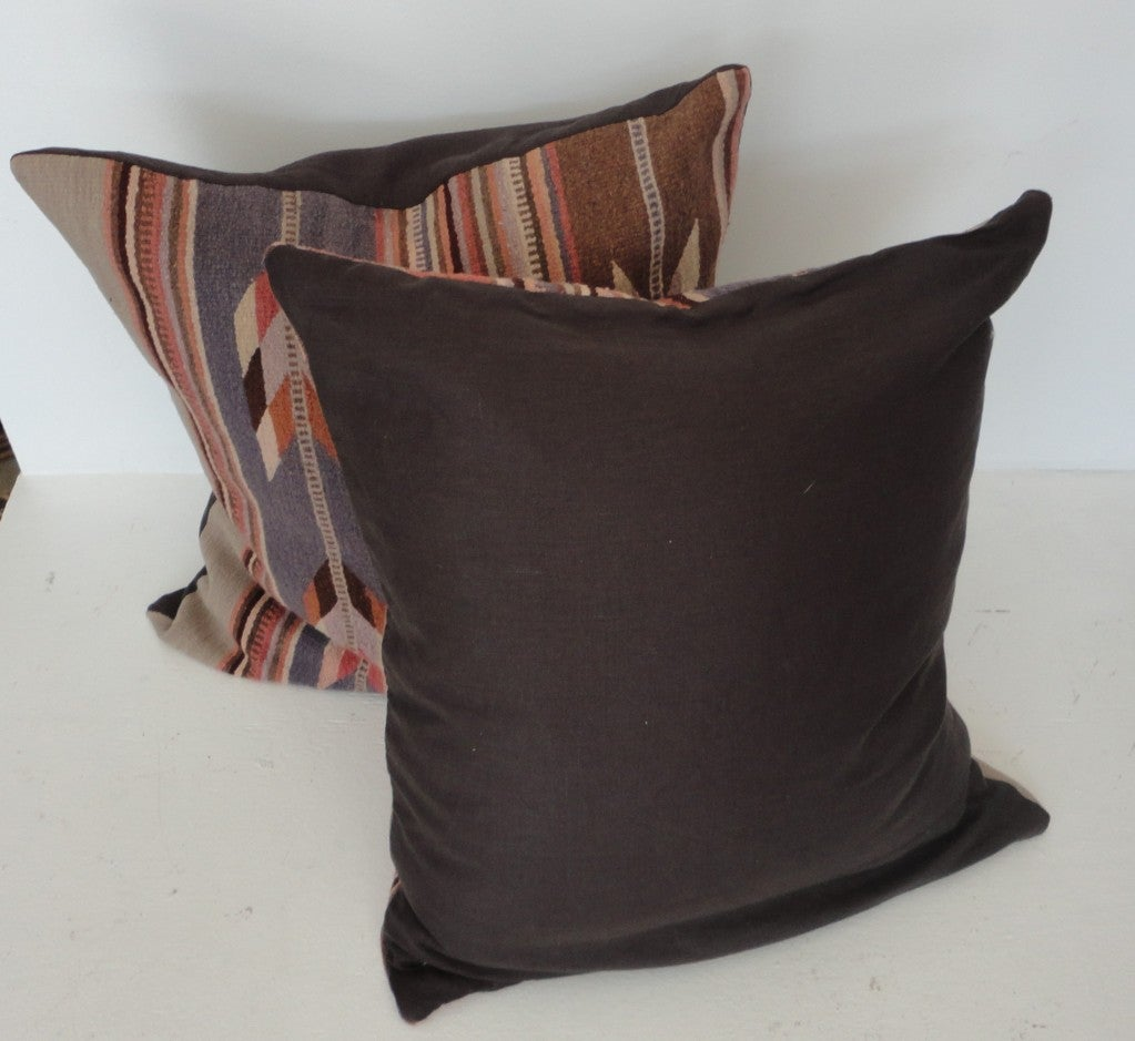 Mexican Zapotec Indian Weaving Pastel Pillows at 1stdibs