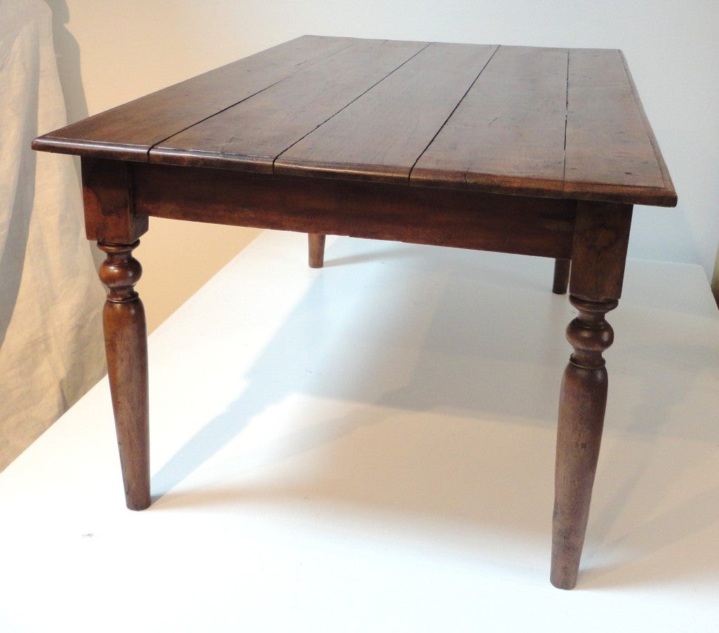 Early 19thc Walnut Farm Table/Coffee Table At 1stdibs