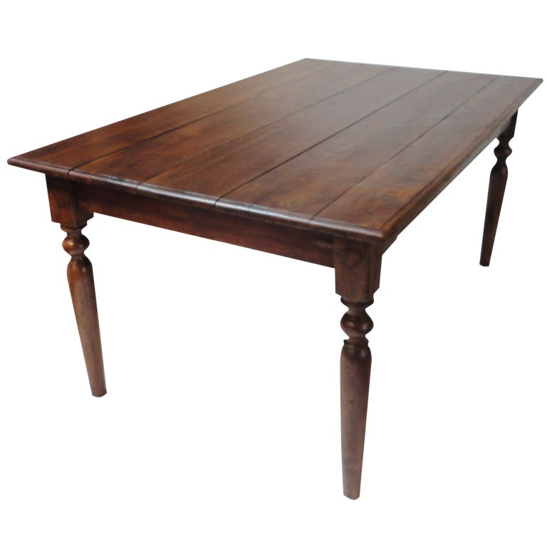 Early 19thc Walnut Farm Table Coffee Table At 1stdibs