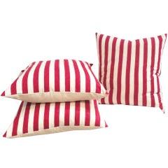 Fantastic Vintage Ticking Striped Pillows