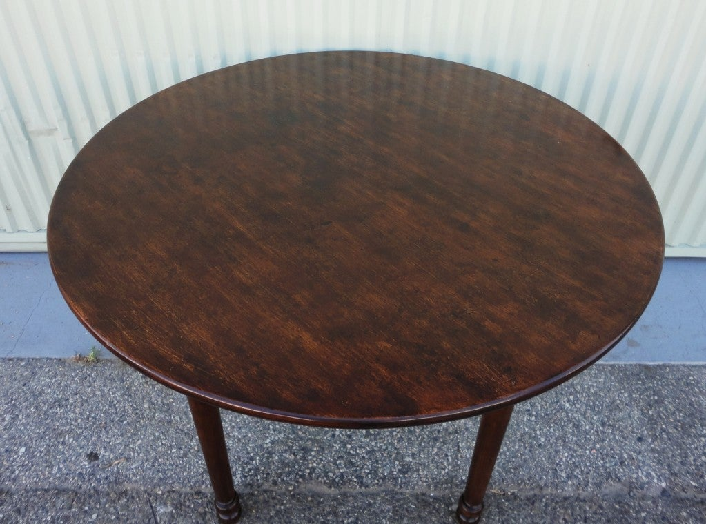 19thc round small dinning kitchen table at 1stdibs. Black Bedroom Furniture Sets. Home Design Ideas