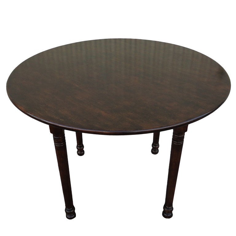 19thc round small dinning kitchen table at 1stdibs for Small round kitchen table