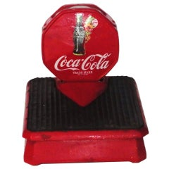 Vintage Coca-Cola Red Painted Iron Weight Scale