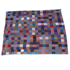 Early Pennsylvania Wool and Velvet One-Patch Quilt