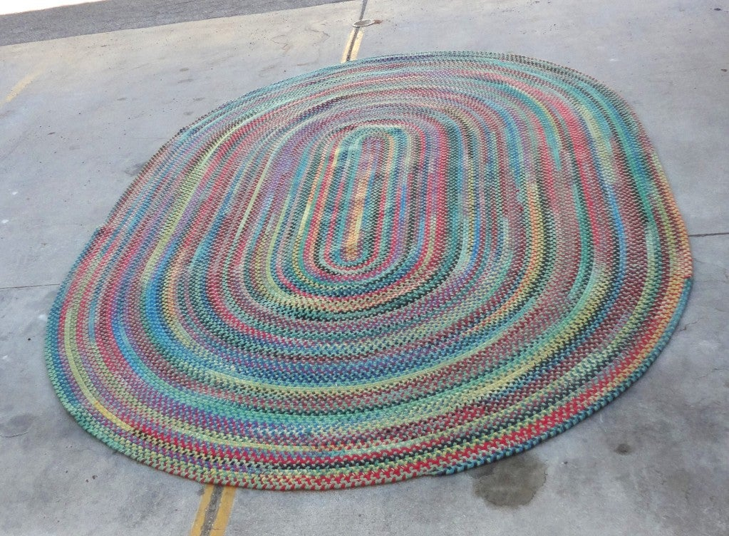 Wonderful & Colorful  Room SIze Wool Braided Rug image 2