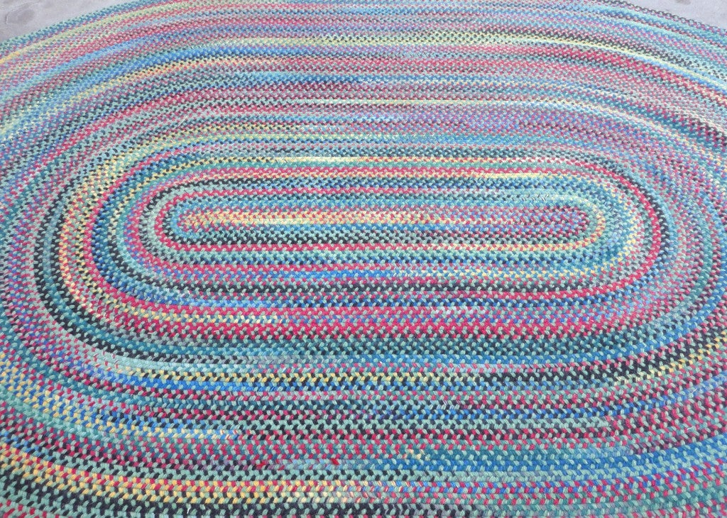 Wonderful & Colorful  Room SIze Wool Braided Rug image 3