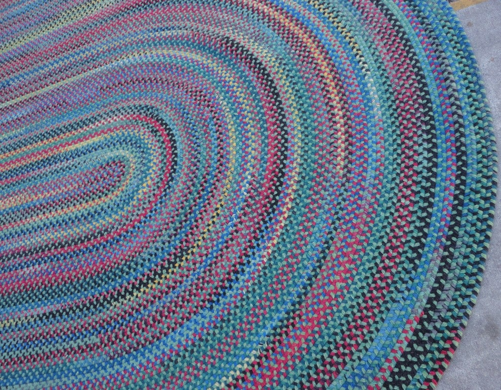 Wonderful & Colorful  Room SIze Wool Braided Rug 4