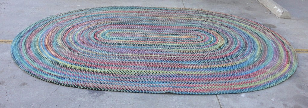 Wonderful And Colorful Room Size Wool Braided Rug At 1stdibs