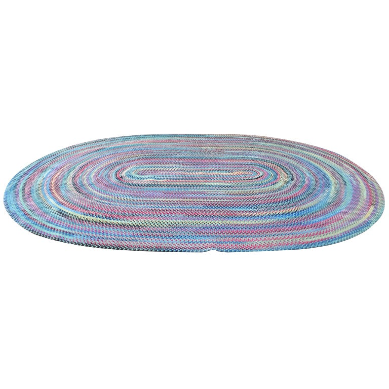 Wonderful & Colorful  Room SIze Wool Braided Rug 1