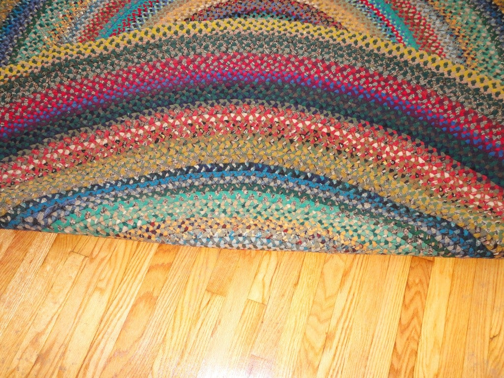 1930 S Round Braided Wool Rug From Pennsylvania At 1stdibs