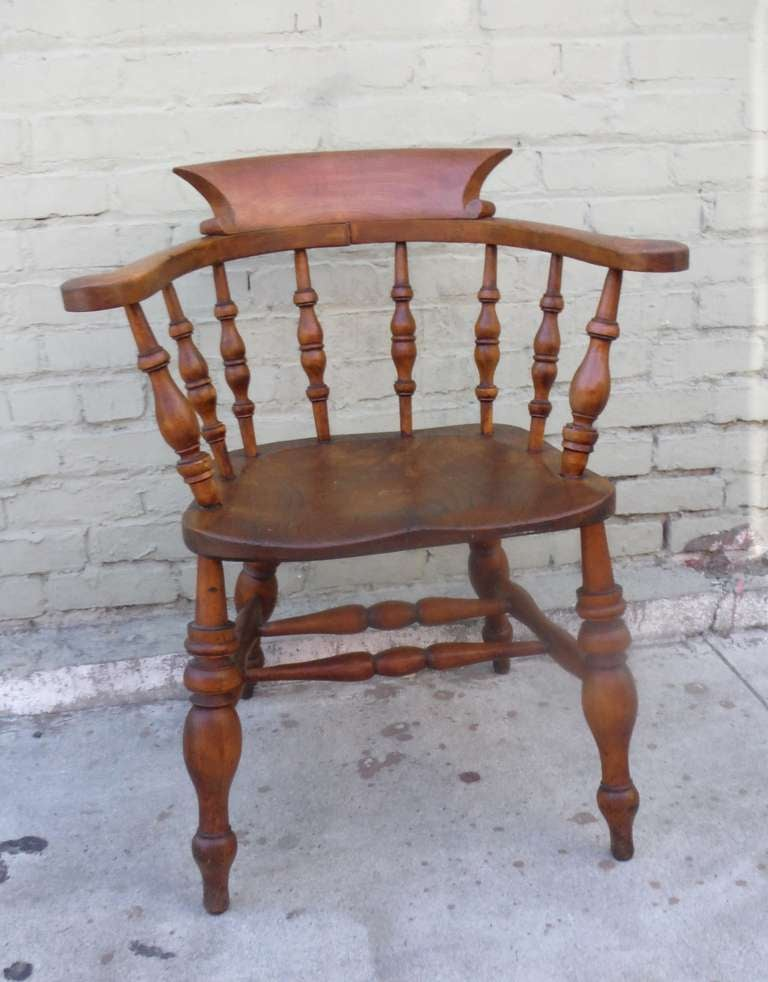 British 19th Century English Pub Chair with Exceptional Untouched Surface For Sale