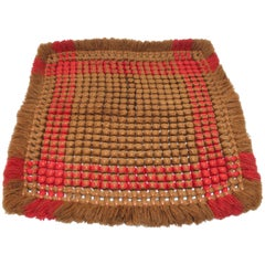 19th Century Handwoven Table Mat from Pennsylvania
