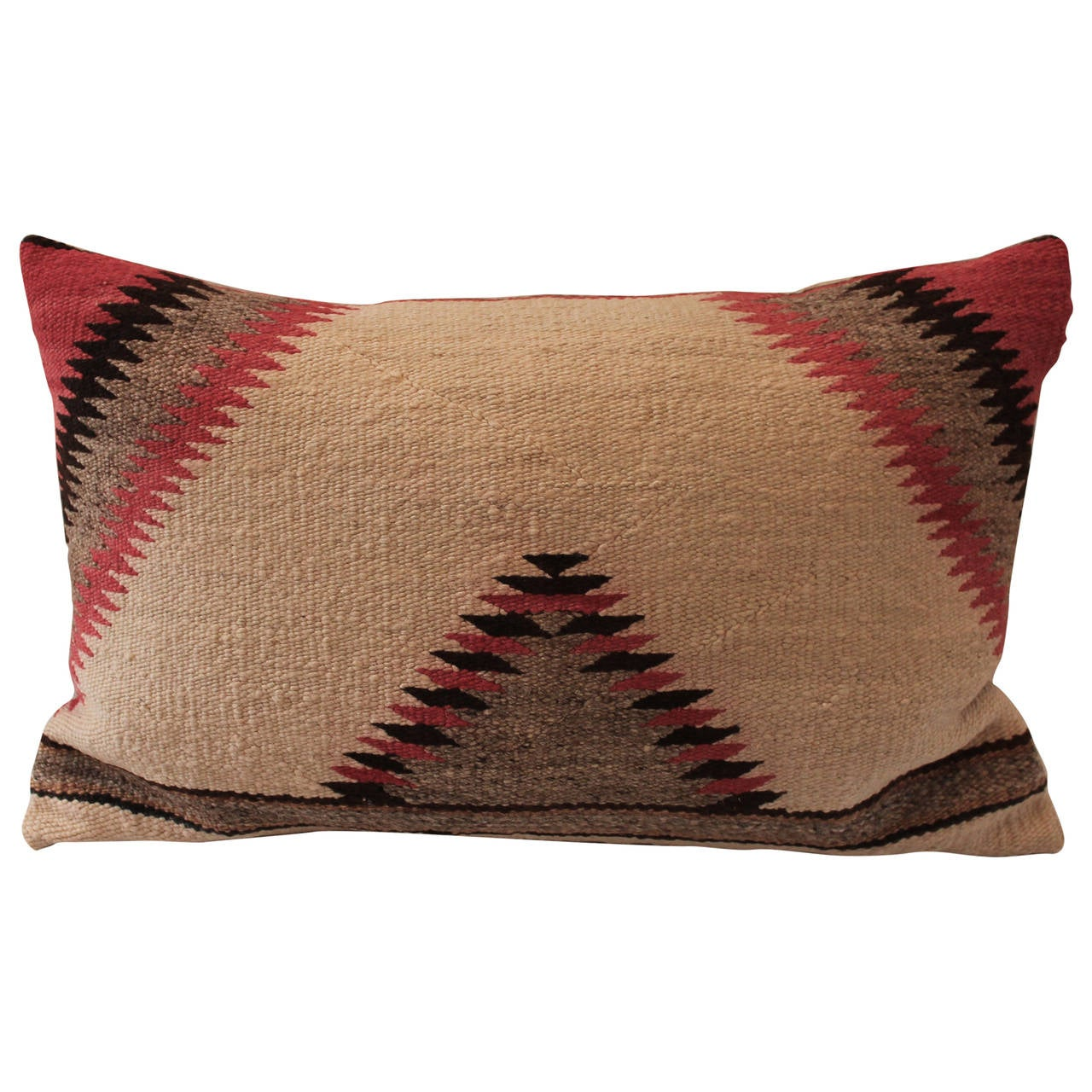 Sawtooth Pattern Navajo Indian Weaving Pillow At 1stdibs