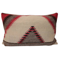 Early Navajo Weaving Sawtooth Pattern Bolster Pillow
