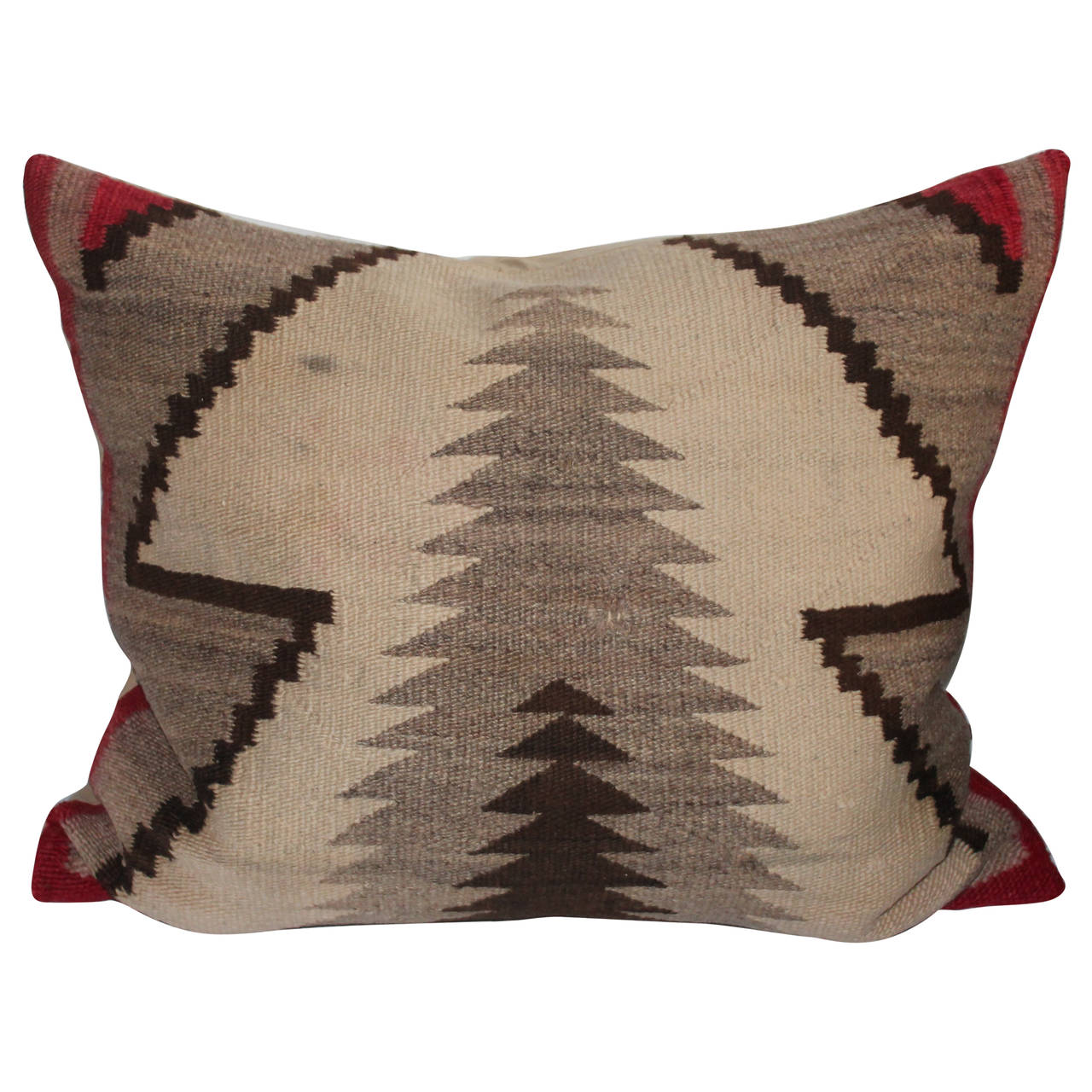 Monumental Navajo Indian Weaving Pillow