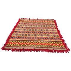 Beacon Indian Design Cotton Blanket w/ Original Label & Fringe