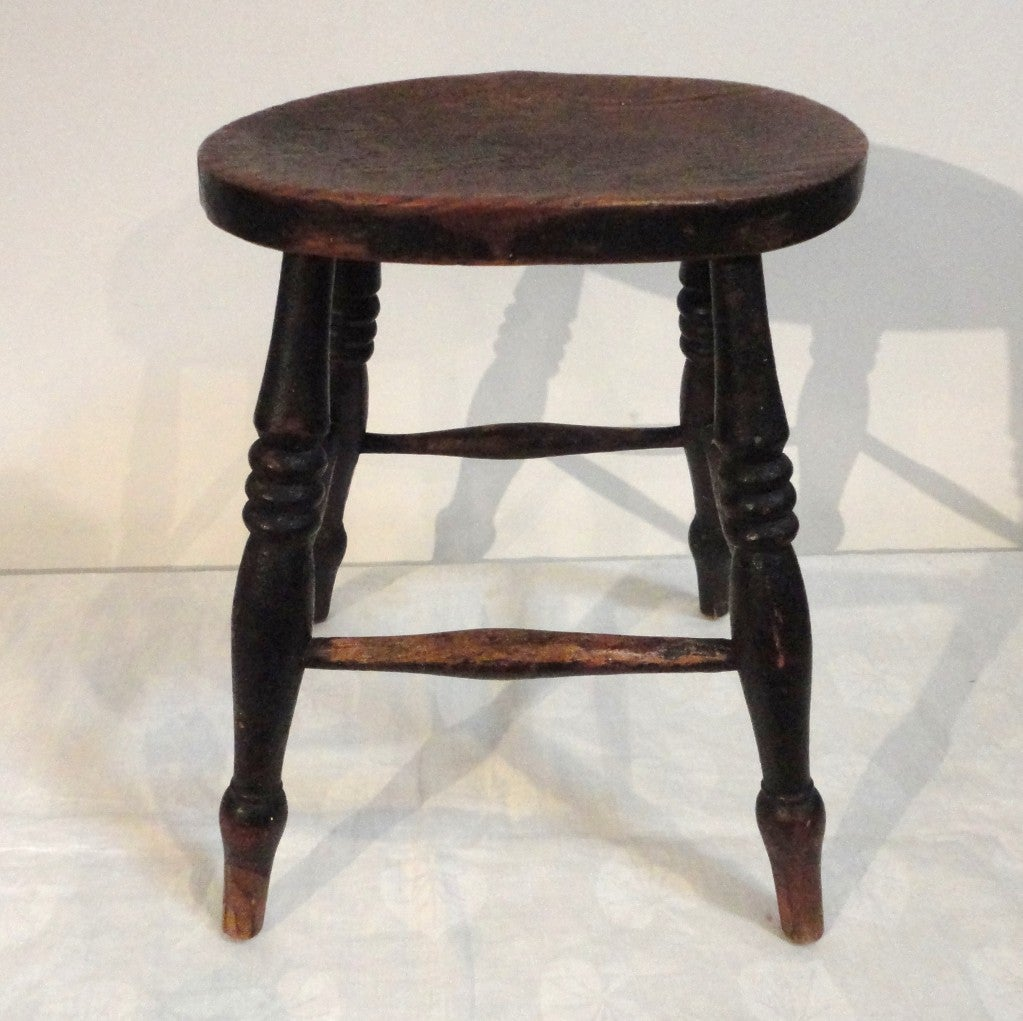 19thc Original Old Surface Stool From New England At 1stdibs