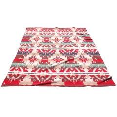 Early Beacon Indian Design Cotton  Blanket