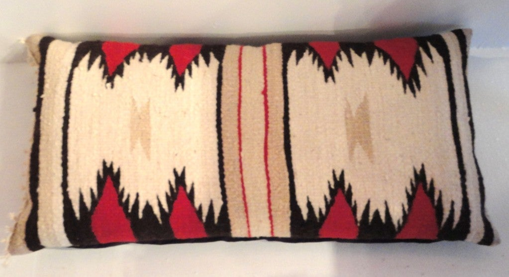 Fantastic Geometric Navajo Eye Dazzler   Indian Weaving Bolster Pillow 2