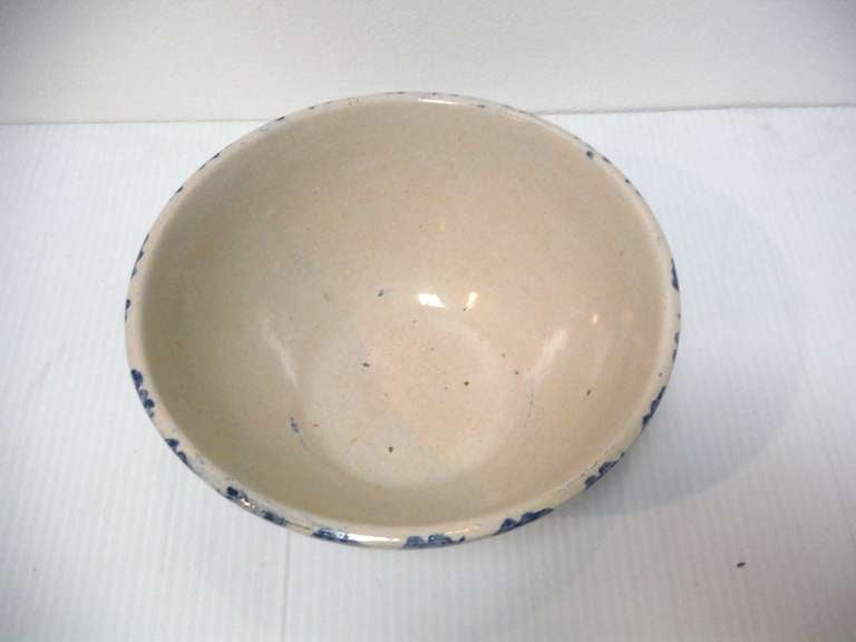 19th Century Sponge Ware Serving/Mixing Bowl In Excellent Condition For Sale In Los Angeles, CA