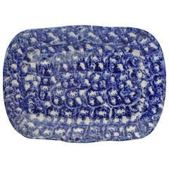 Large 19th Century Spongeware Platter