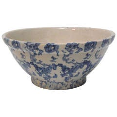 19th Century Sponge Ware Serving/Mixing Bowl