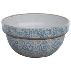 19th Century Spongeware Bake Bowl