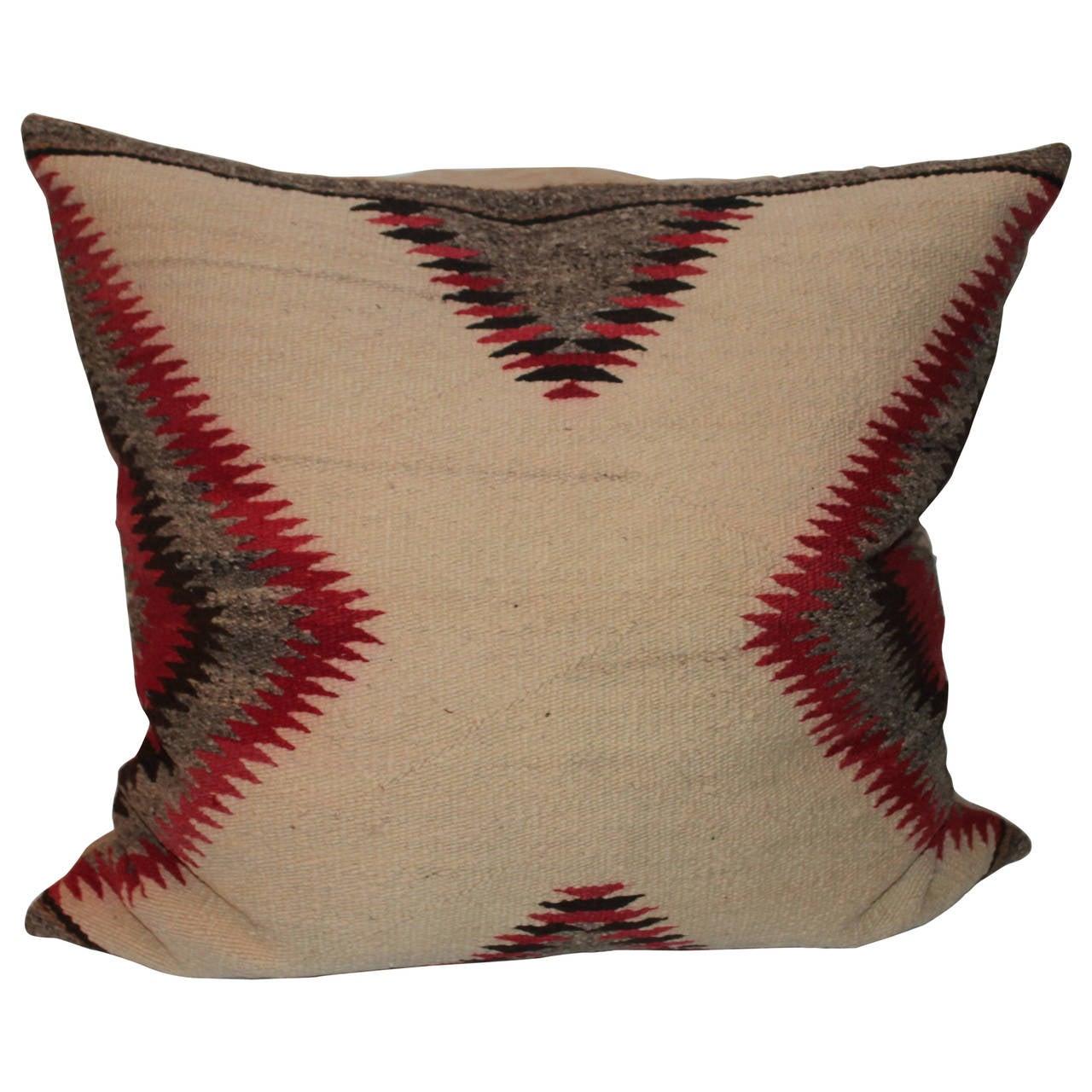 Large Navajo Indian Weaving Bolster Pillow At 1stdibs