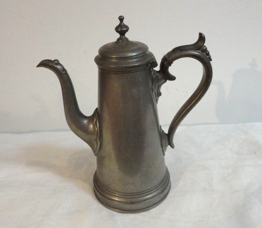 19th Century English Pewter Teapot Sheffield England For